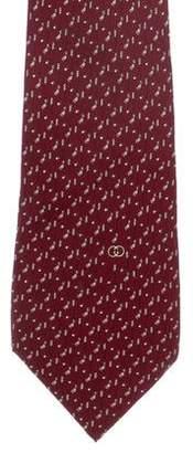 Gucci Golf Club Print Woven Tie