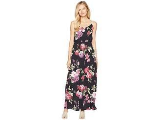 American Rose Darby Spaghetti Strap Floral Maxi Dress