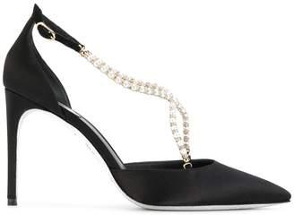 Rene Caovilla pearl detail sandals