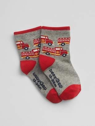 Gap Firetruck Crew Socks