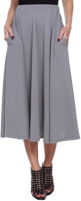 Women's White Mark Midi Skirt