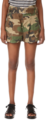 Marc Jacobs Cargo Camo Pocket Shorts $395 thestylecure.com