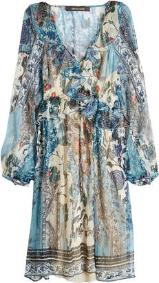 Roberto Cavalli Printed Silk Chiffon Dress