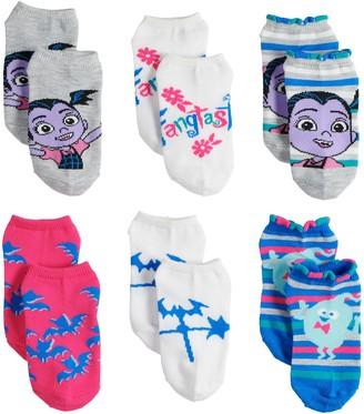 Disney Disney's Vampirina Girls 4-6x 6-pack No-Show Socks