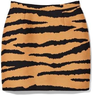 Proenza Schouler Mini Skirt in Bronze/Black Tiger