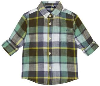 Mantaray Boys' Green Checked Shirt