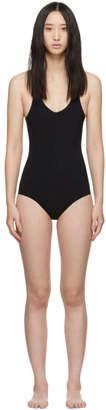 Rick Owens Black Crossback One-Piece Swimsuit