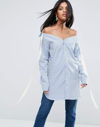Josie To Be Adored Boyfriend Striped Shirt