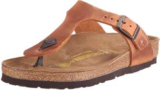 Birkenstock Women's Gizeh Cork Footbed Thong Sandal Brown 36 M EU