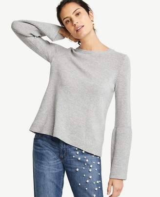 Ann Taylor Petite Wide Rib Sleeve Sweater