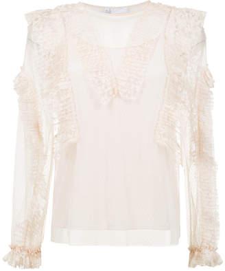 Nk sheer lace blouse