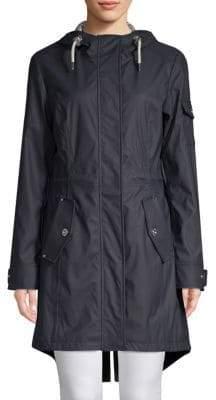 1 Madison Drawstring Hooded Rain Jacket