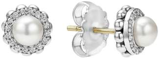 Lagos 'Luna' Pearl Diamond Stud Earrings