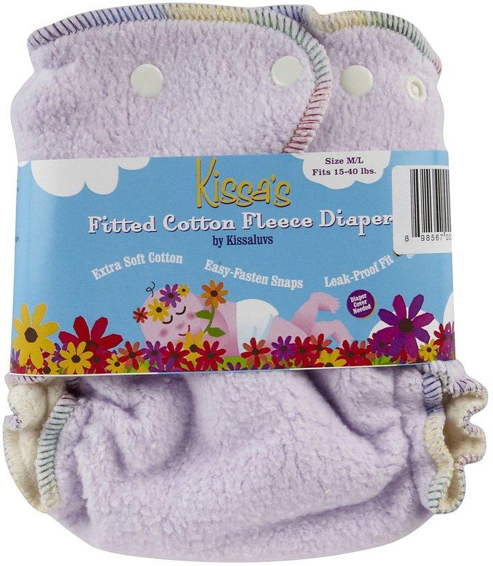 Kissaluvs Kissa's Fitted Cloth Diaper - Snap - Berry Purple - Medium/Large