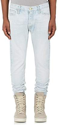 Fear Of God Men's Ankle-Zip Slim Jeans - Lt. Blue Size 31