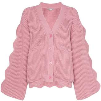 Stella McCartney knitted button down scalloped detail cardigan