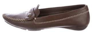 Christian Dior Leather Pointed-Toe Loafers