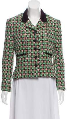 Chanel Notched-Lapel Tweed Blazer