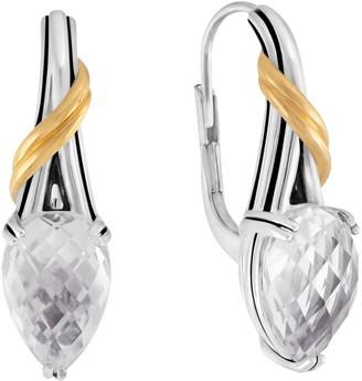 Peter Thomas Roth Sterling & 18K Clad Rock Crystal Earrings