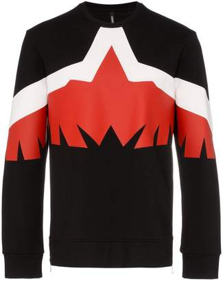 Neil Barrett modern eagle crew neck sweater
