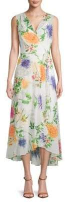 Calvin Klein Floral Sleeveless Wrap Dress