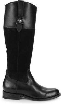 Frye Jaydon Button Leather Riding Boots