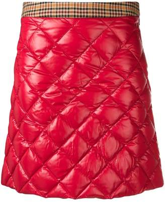 Moncler quilted mini skirt