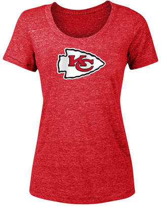 5th & Ocean Women Kansas City Chiefs Tri-Blend Logo T-Shirt