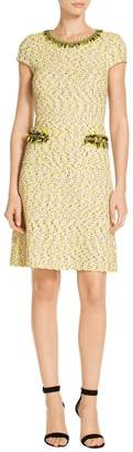 St. John Romee Tweed Knit Dress