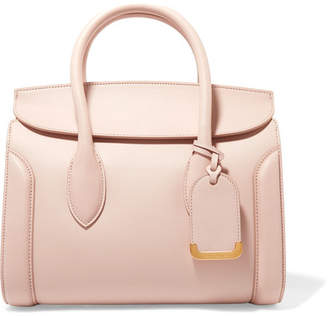 Alexander McQueen Heroine Medium Textured-leather Tote - Blush