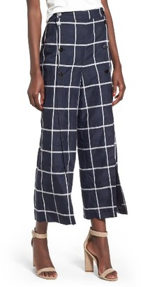Women's J.o.a. Checkered Wide Leg Pants $85 thestylecure.com