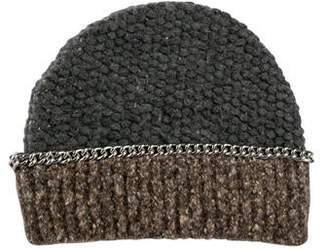 Maison Michel Chain Accent Knit Beanie