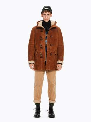 Scotch & Soda Suede Duffel Coat