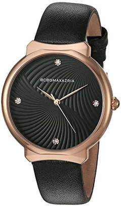 BCBGMAXAZRIA Women's Stainless Steel Japanese-Quartz Watch with Leather Strap