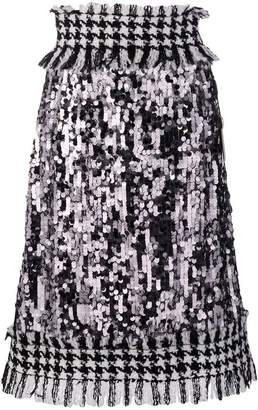Dolce & Gabbana high waisted tweed skirt