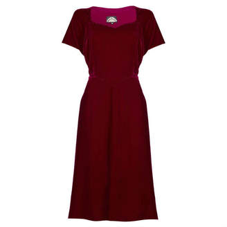 Isabella Collection Nancy Mac Dress In Deep Red Velvet
