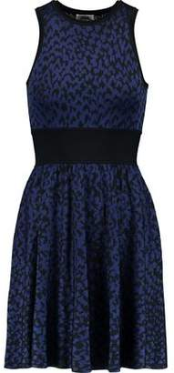 Issa Nicki Jacquard-Knit Mini Dress