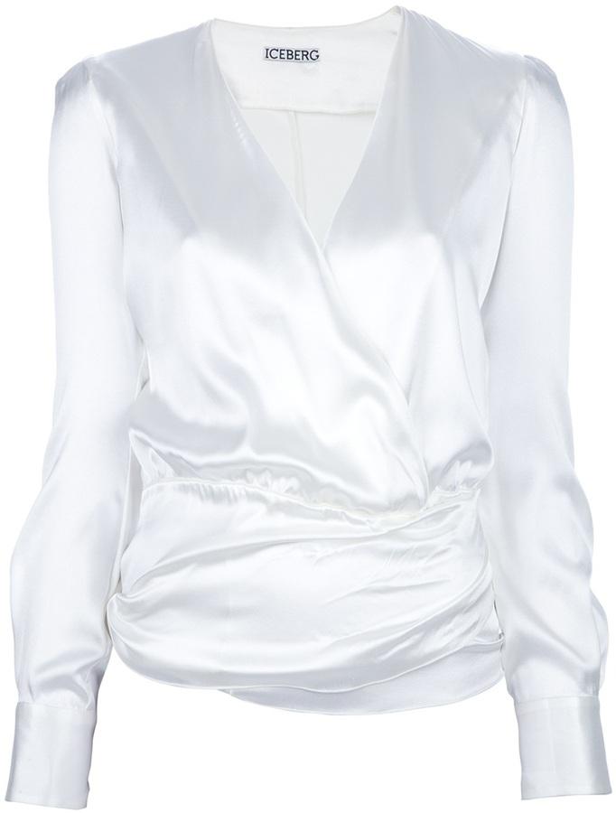 Iceberg wrap around blouse
