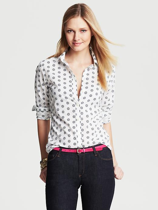 Banana Republic Soft-Wash Nautical Print Shirt