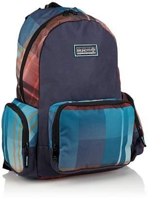 Brunotti Women's Backpack Basic Gradient Check Navy Backpack Handbags