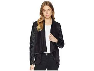 Blank NYC Drape Front Jacket in Whatever It Takes Women's Coat