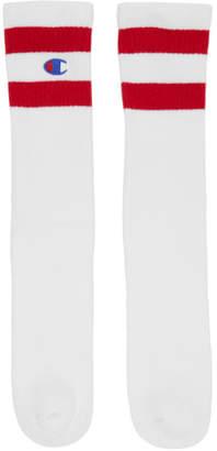 Champion Reverse Weave White Tube Sports Socks