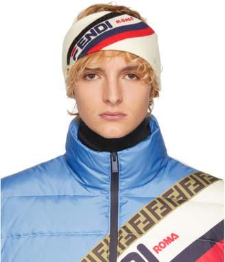 Fendi White Wool Mania Headband