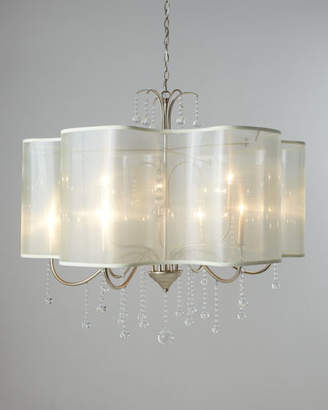 John-Richard Collection Quatrefoil 9-Light Shaded Chandelier