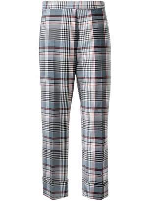 Thom Browne plaid tailored cropped trousers