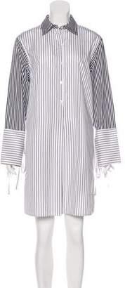 Tome Stripe Printed Knee-Length Dress