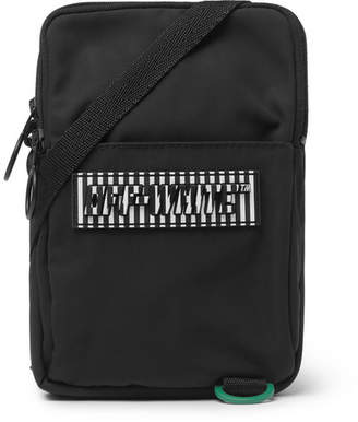 Off-White Off White Logo-Appliqued Canvas Camera Bag - Men - Black
