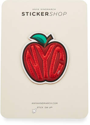 Anya Hindmarch Big Apple Sticker for Handbag, Red