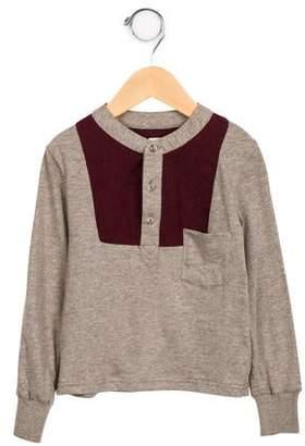Tia Cibani Boys' Long Sleeve Bib Henley Shirt w/ Tags