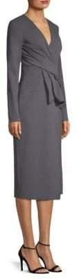 Jason Wu Pleat Wool Sheath Dress